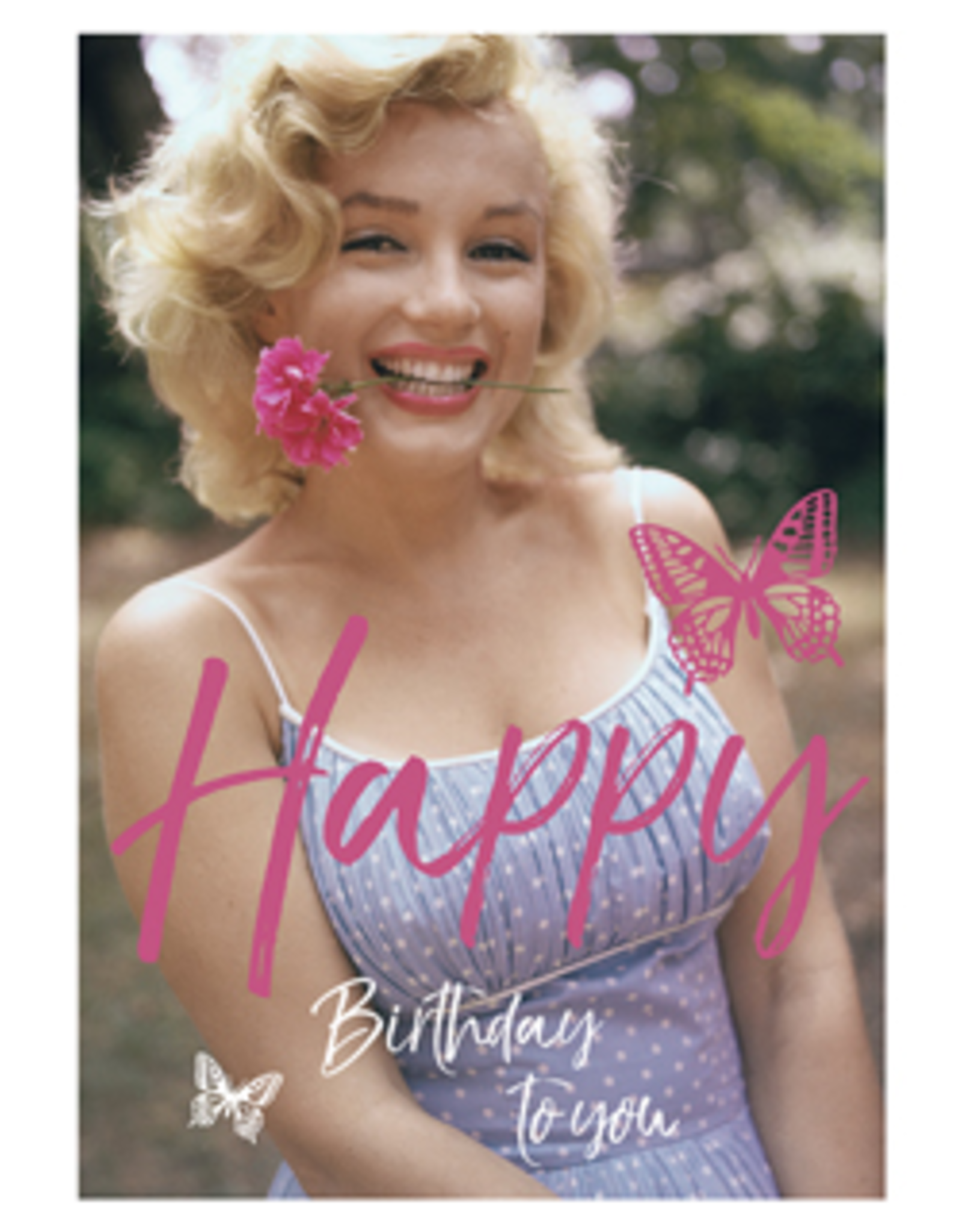 Marilyn Monroe card - Happy birthday to you