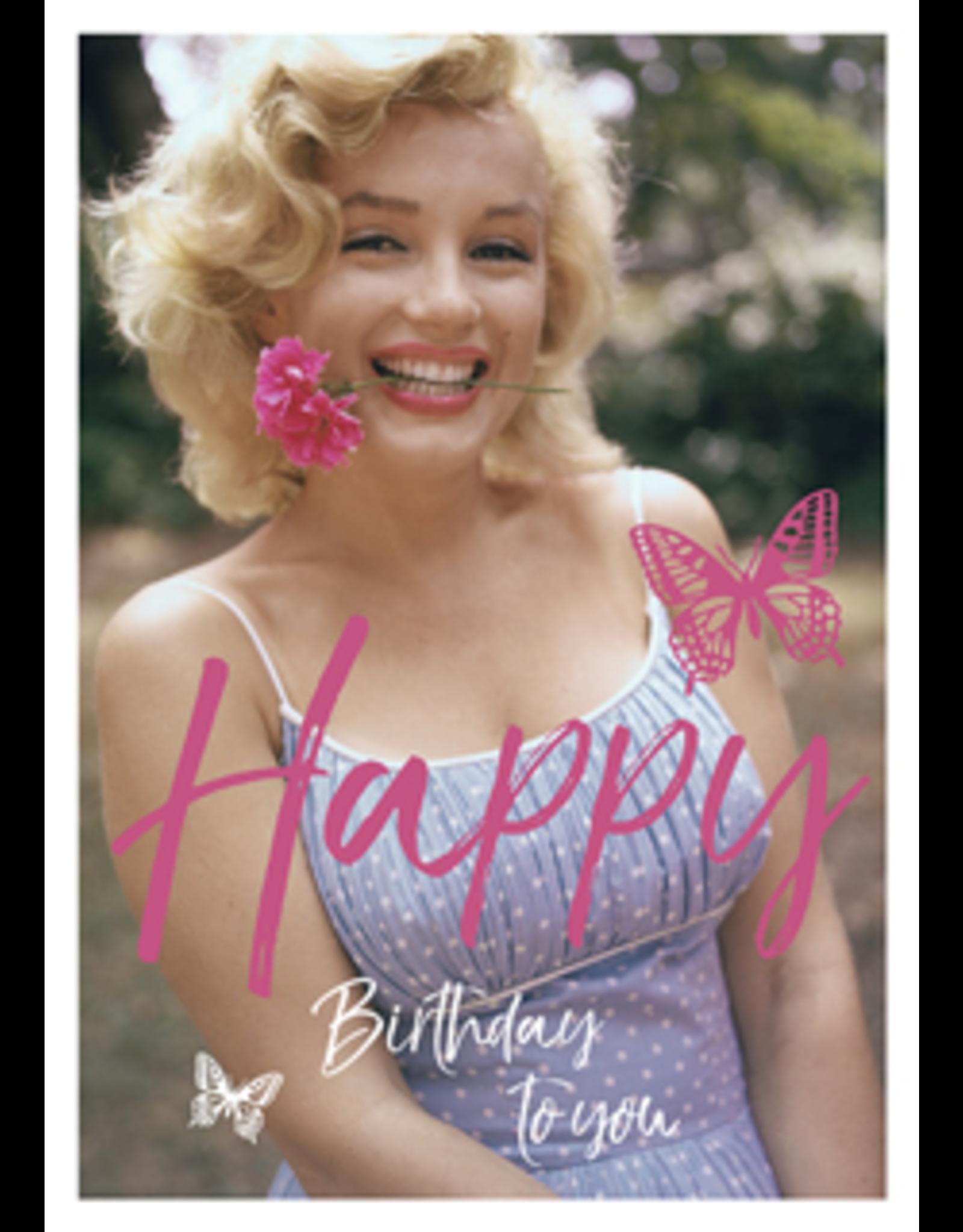Marilyn Monroe kaart - Happy birthday to you