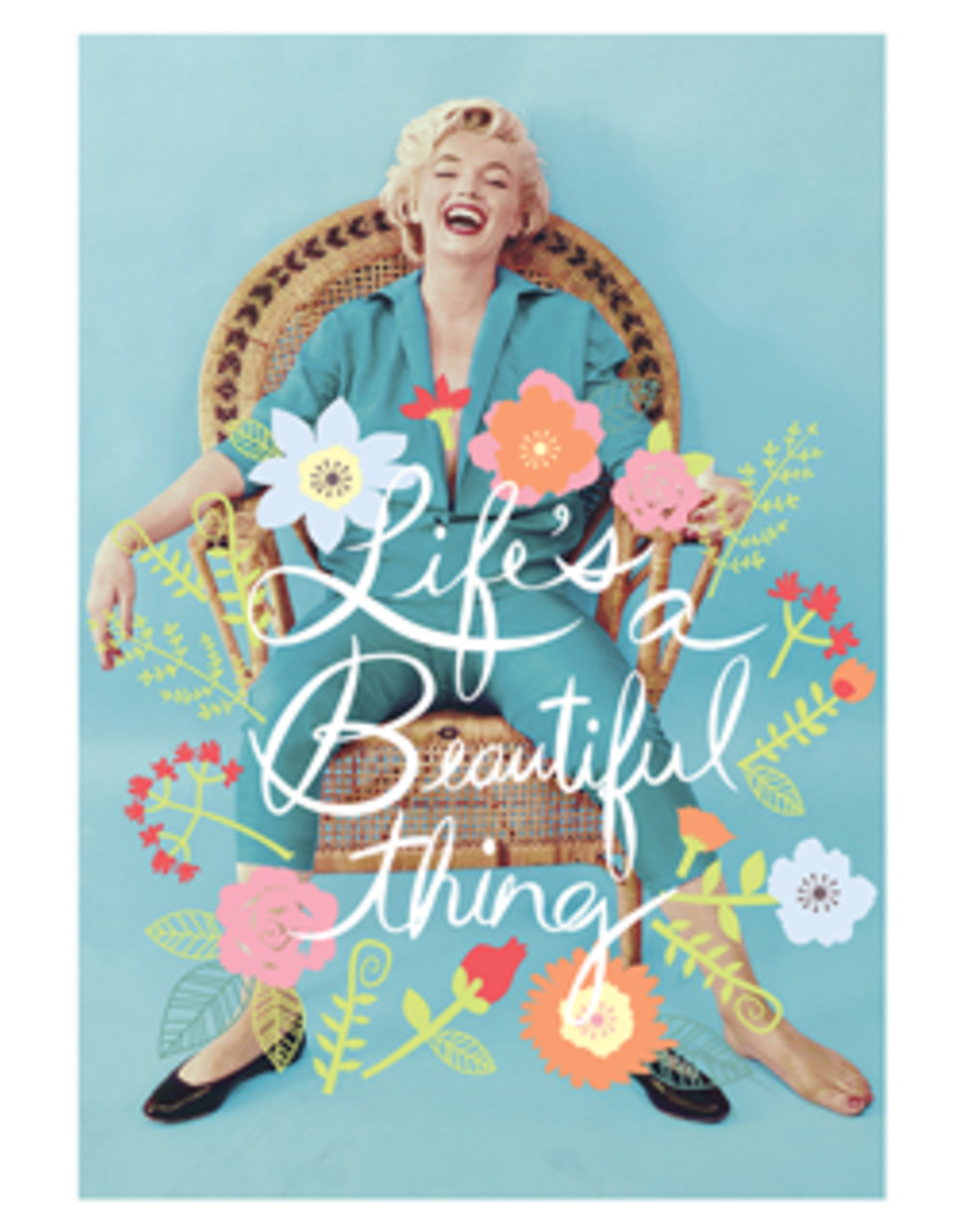Marilyn Monroe kaart - Life's a beautiful thing