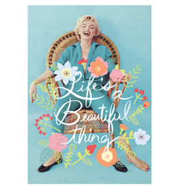 Marilyn Monroe card - Life's a beautiful thing