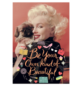 Marilyn Monroe card - Be your own kind of beautiful