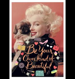 Marilyn Monroe kaart - Be your own kind of beautiful