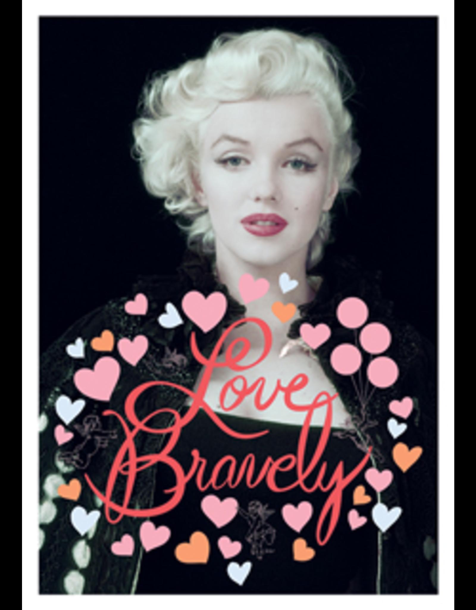 Marilyn Monroe kaart - love bravely