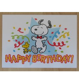 Snoopy birthday card - party!