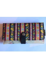 Huisteil Large retro wallet - striped