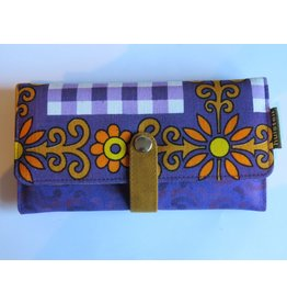 Huisteil Large retro wallet - purple