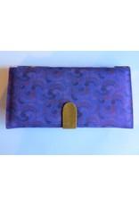 Huisteil Grote retro portemonnee - paars