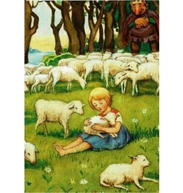 Elsa Beskow Elsa Beskow card - Trip to the land of the lambs