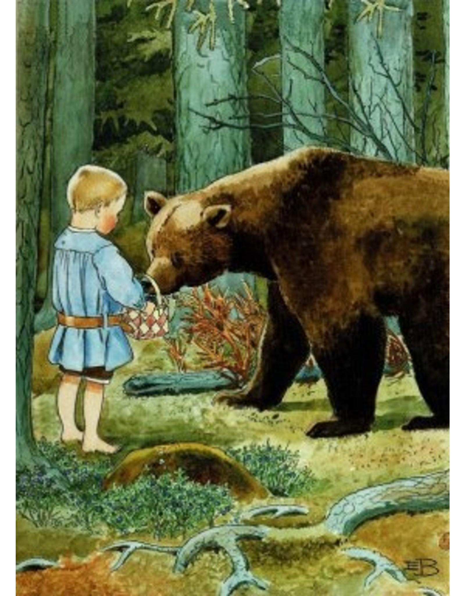 Elsa Beskow Elsa Beskow kaart - De reis naar het land van de lammeren - Copy