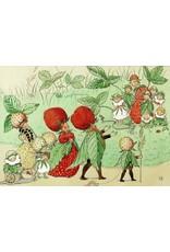 Elsa Beskow Elsa Beskow card -  The strawberry Family
