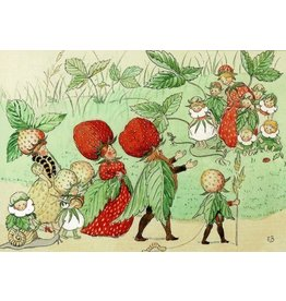Elsa Beskow Elsa Beskow kaart - The strawberry Family