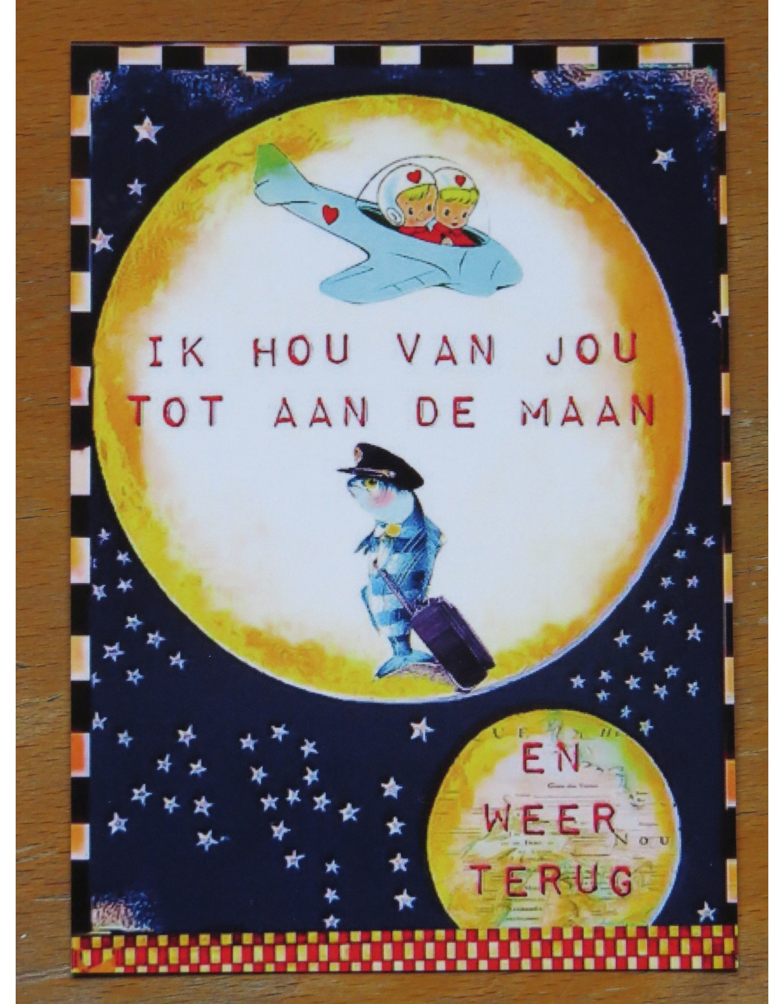 Card - love you to the moon