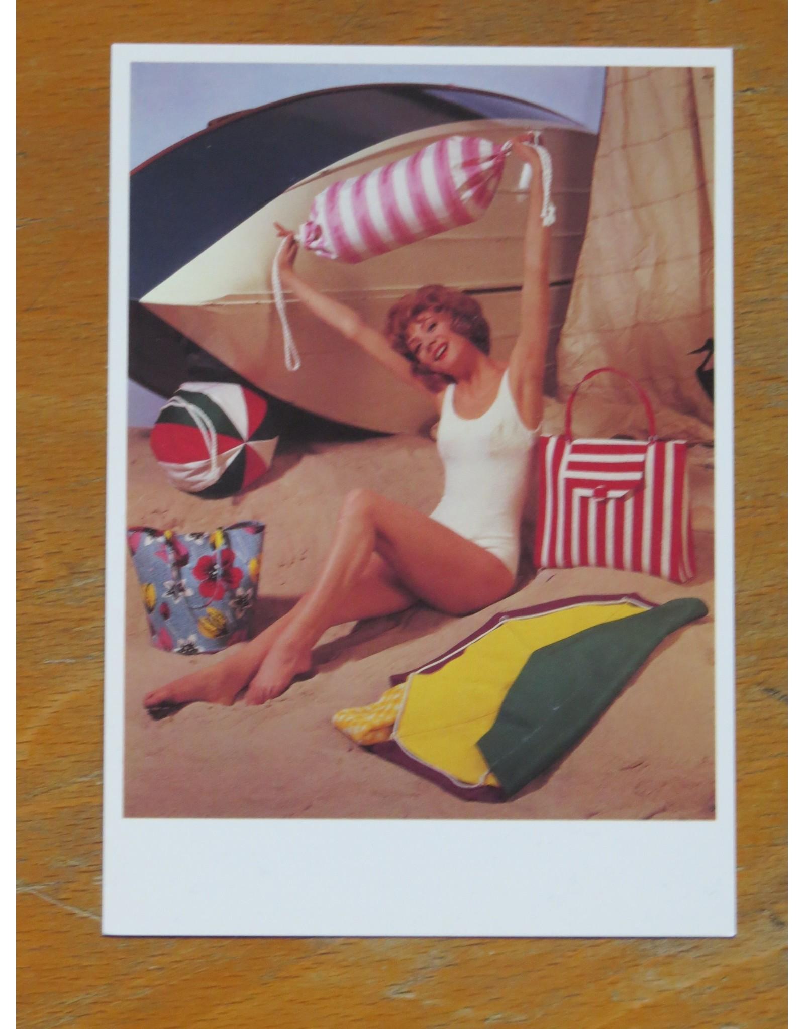 Nostalgische kaart - chillen op het strand
