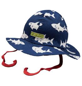 loud+proud Kinder zomerhoedje - blauwe haaien