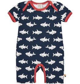 loud+proud Baby zomerpakje - blauwe haaien