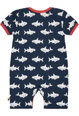 loud+proud Baby summersuit - blue sharks