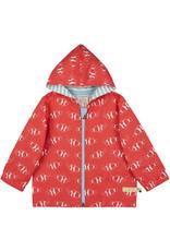 loud+proud Children's outdoor jacket - red fishes