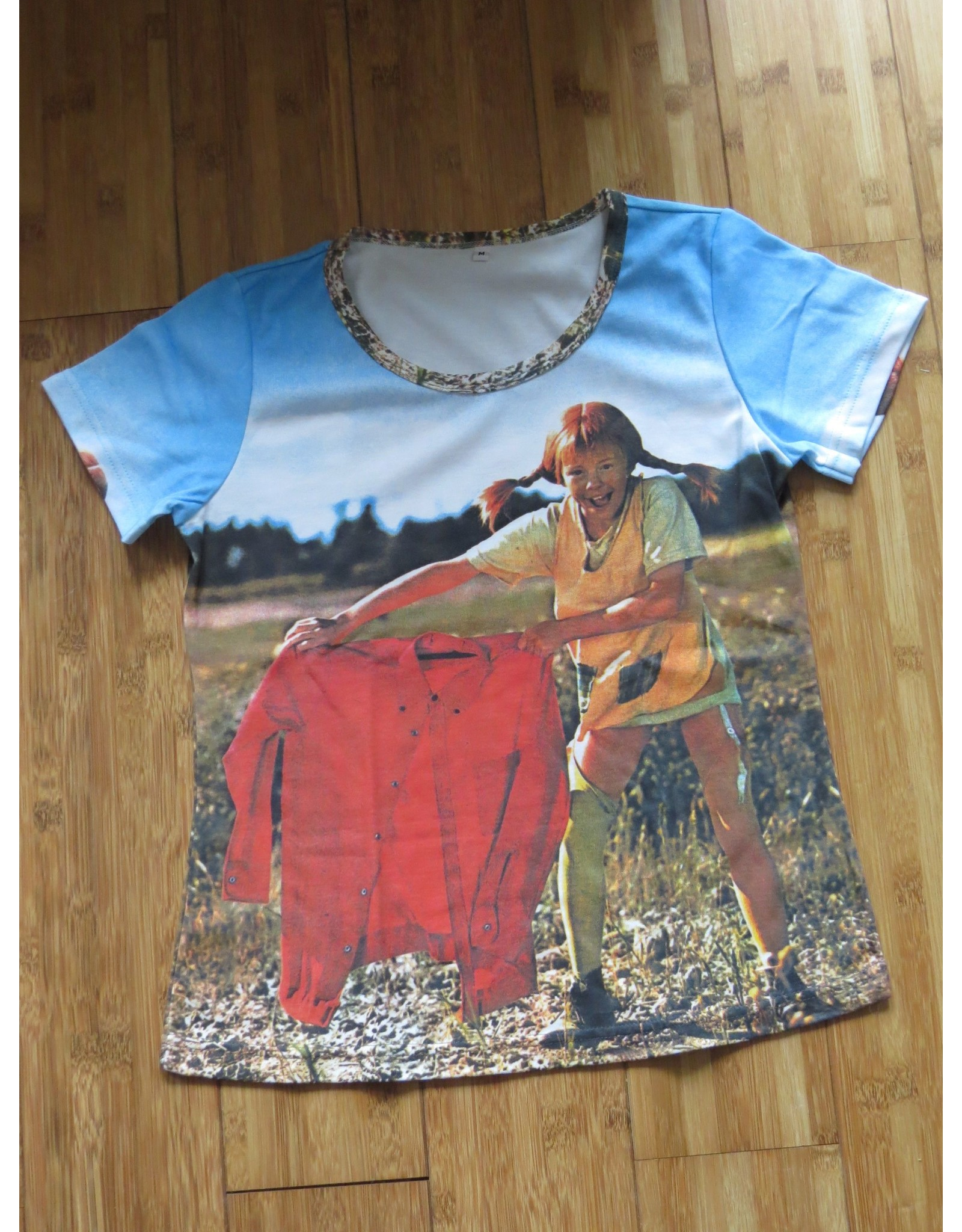 Pippi Langkous Adult tshirt - Pippi torero