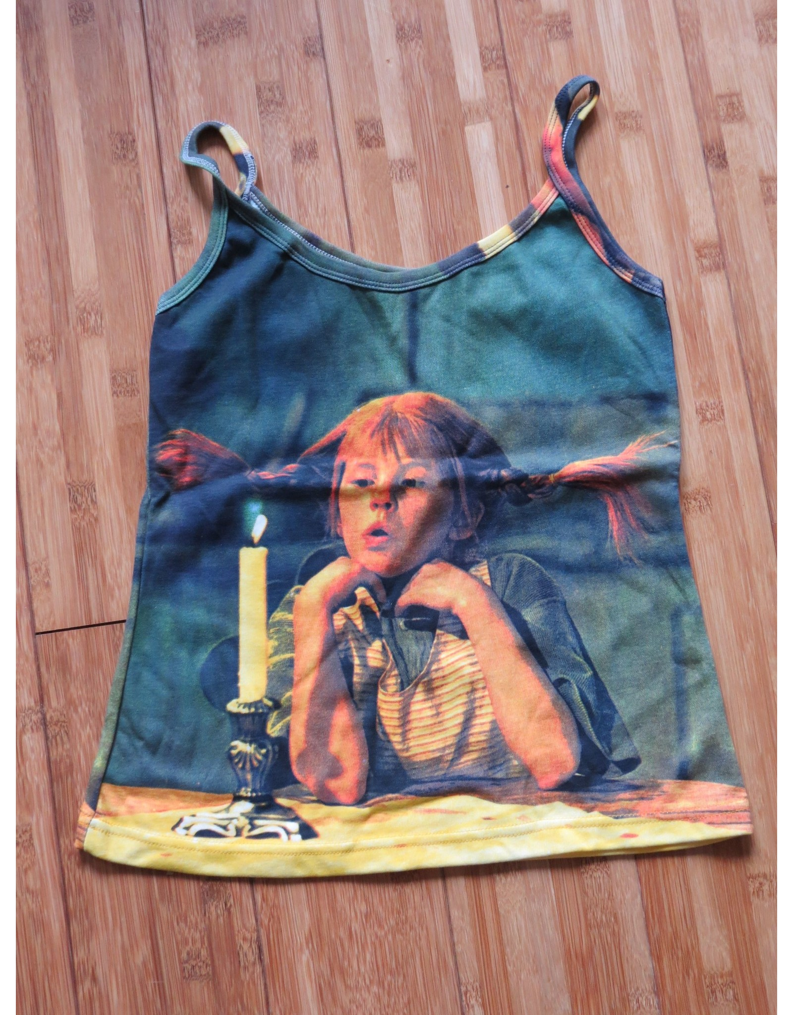 Pippi Langkous Adult tshirt - Pippi pondering