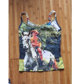 Pippi Langkous Adult top - Pippi and horse