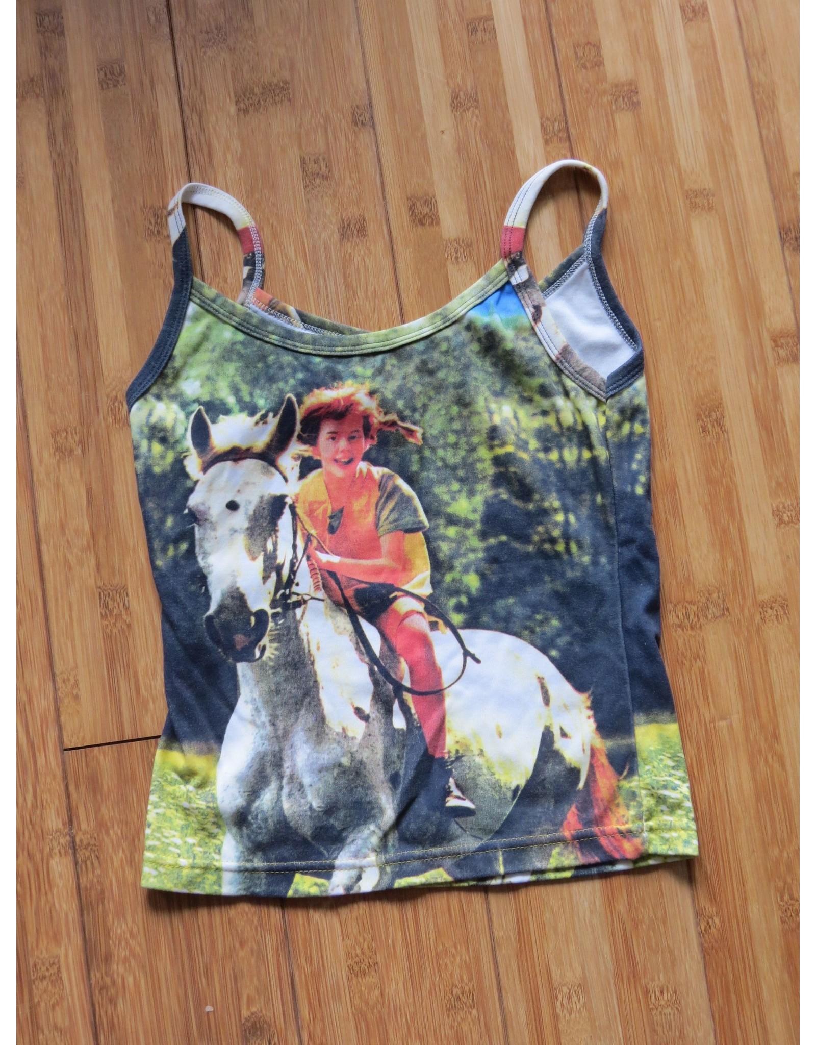 Pippi Langkous Adult tshirt - Pippi and horse