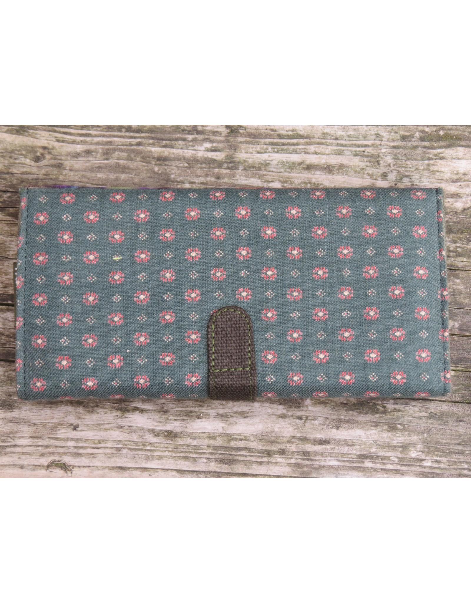 Huisteil Large retro wallet - multicolor