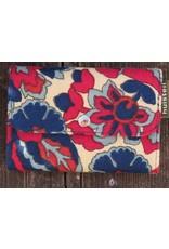 Huisteil Kleine retro portemonnee - rood blauw
