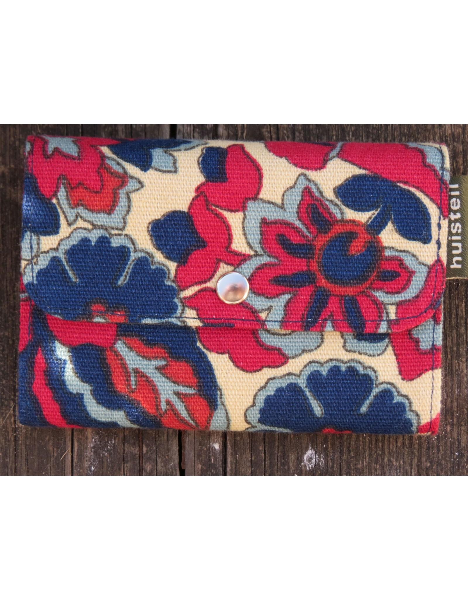 Huisteil Small retro purse - red blue