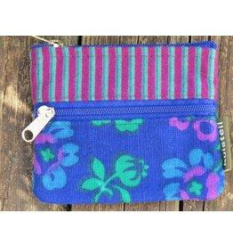 Huisteil Small vintage purse - blue stripe