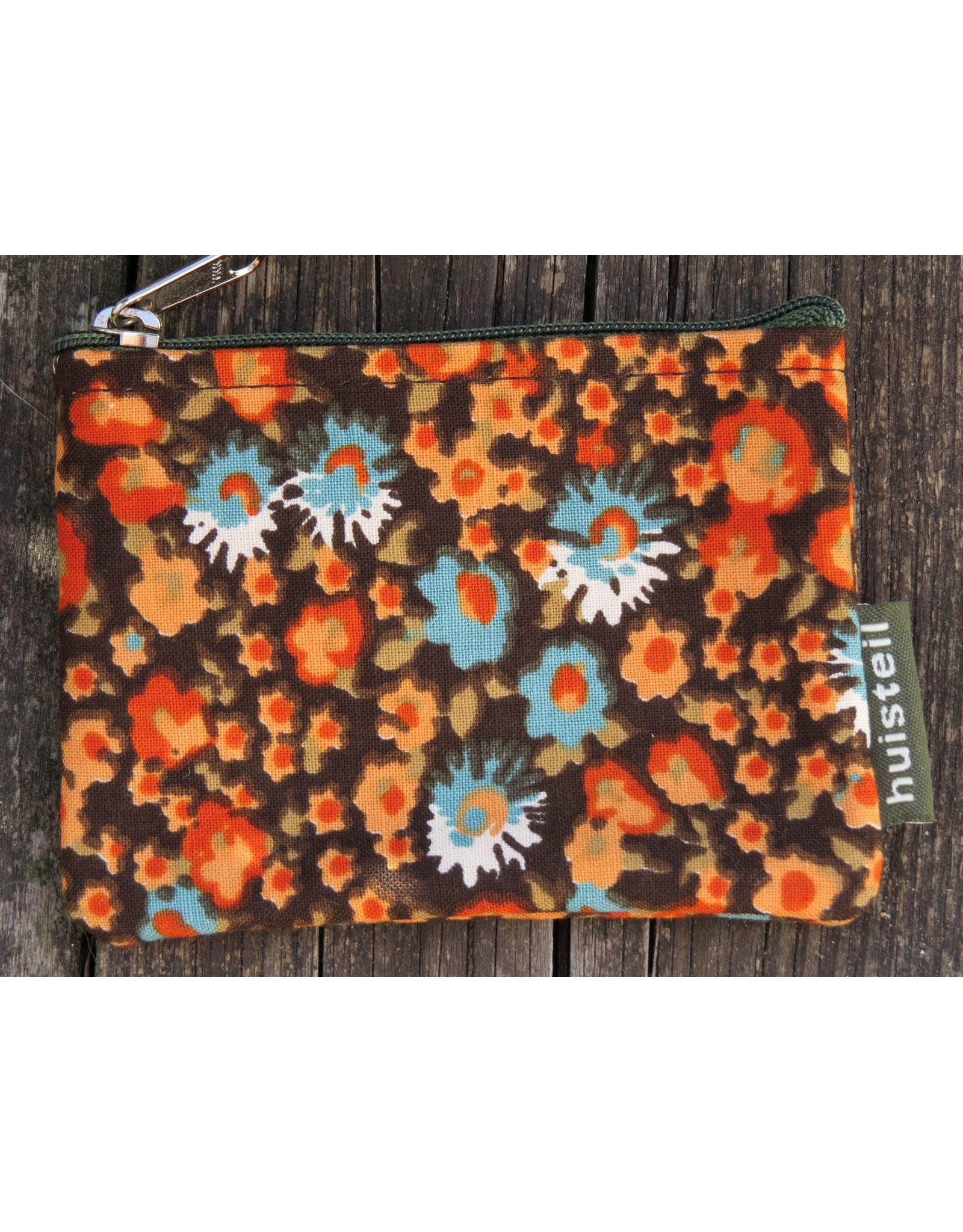 Huisteil Kleine vintage portemonnee - oranje bloemen