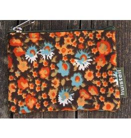 Huisteil Small vintage purse - orange flowers