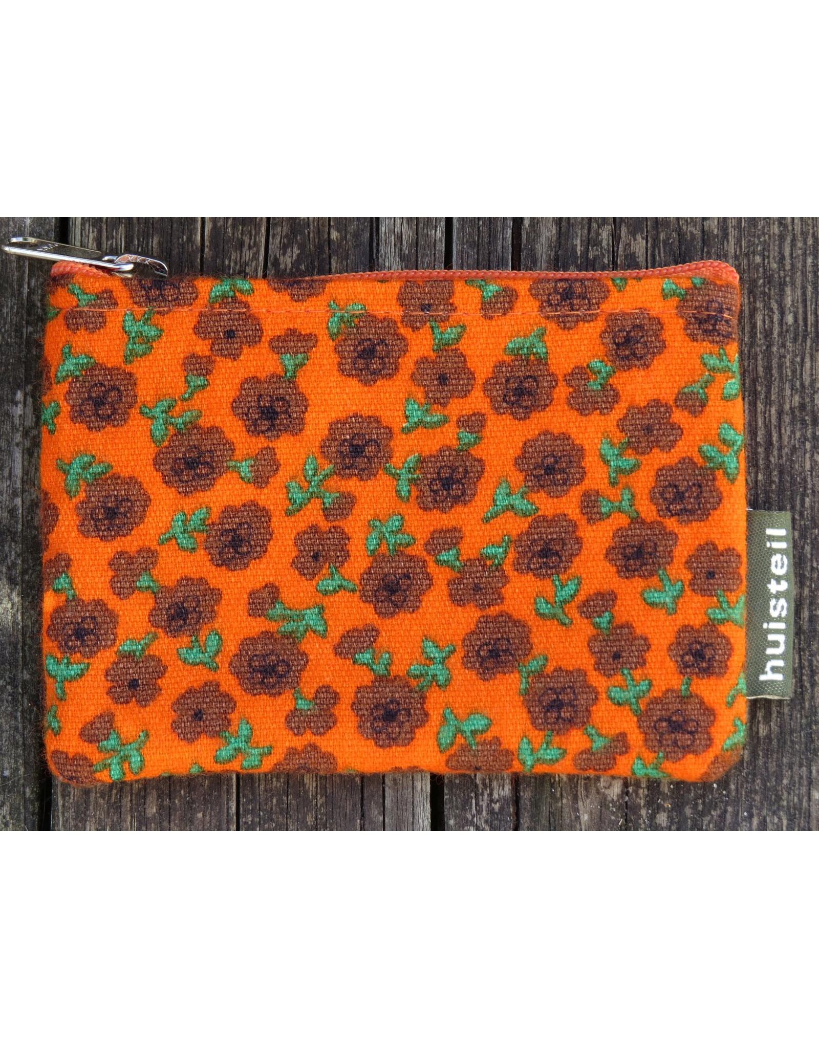 Huisteil Kleine vintage portemonnee - oranje