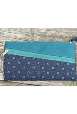 Huisteil Vintage portemonnee - mobiel - blauwe