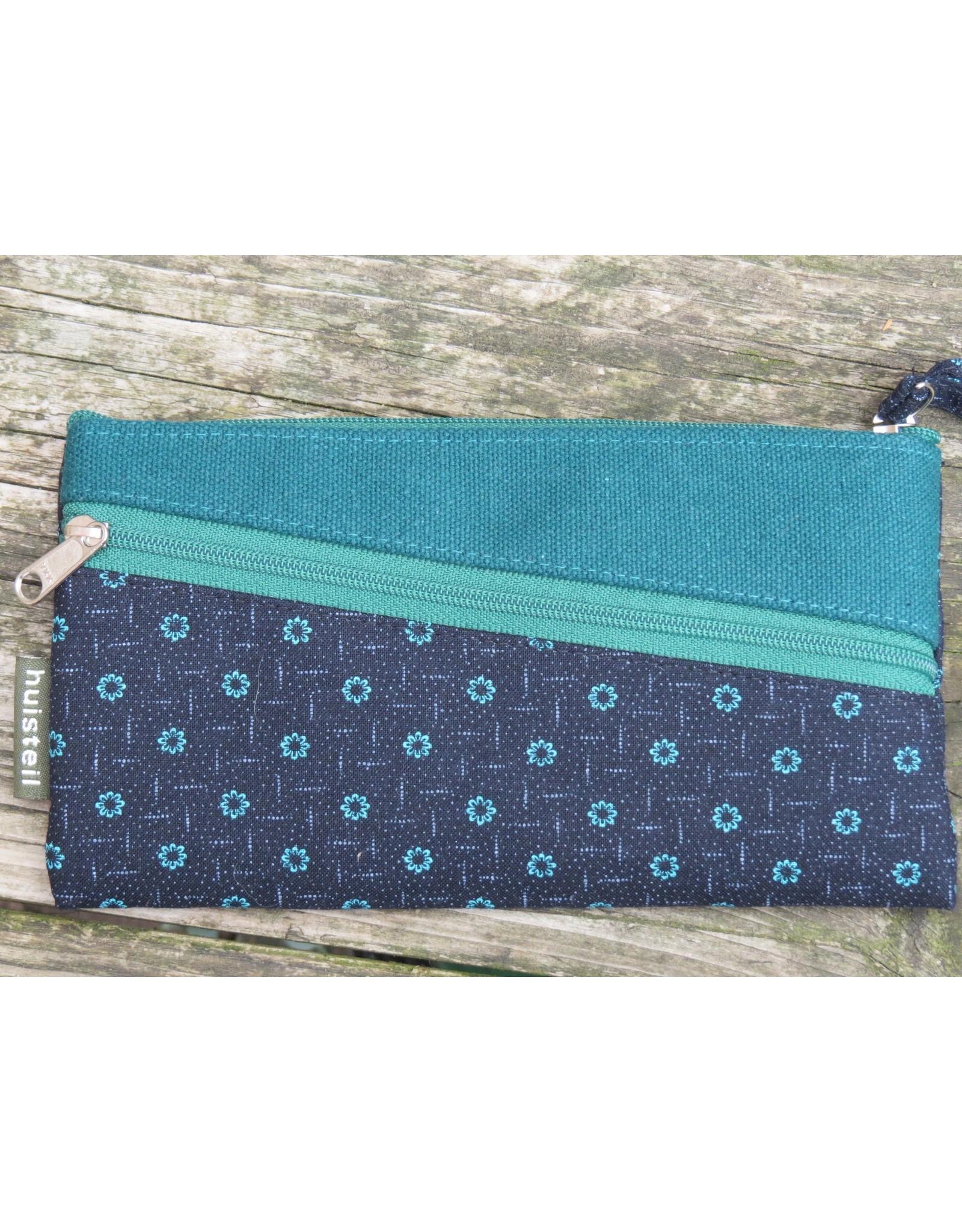 Huisteil Vintage wallet - mobile phone - blue 2