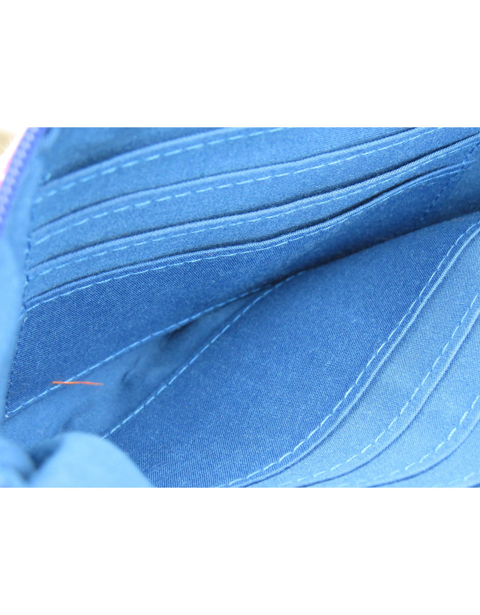 Huisteil Vintage wallet - mobile phone - blue flower