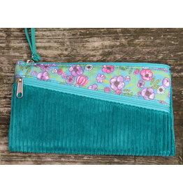 Huisteil Vintage portemonnee - mobiel - corduroy