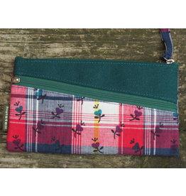 Huisteil Vintage portemonnee - mobiel - geruit