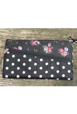 Huisteil Vintage wallet - mobile phone - dots