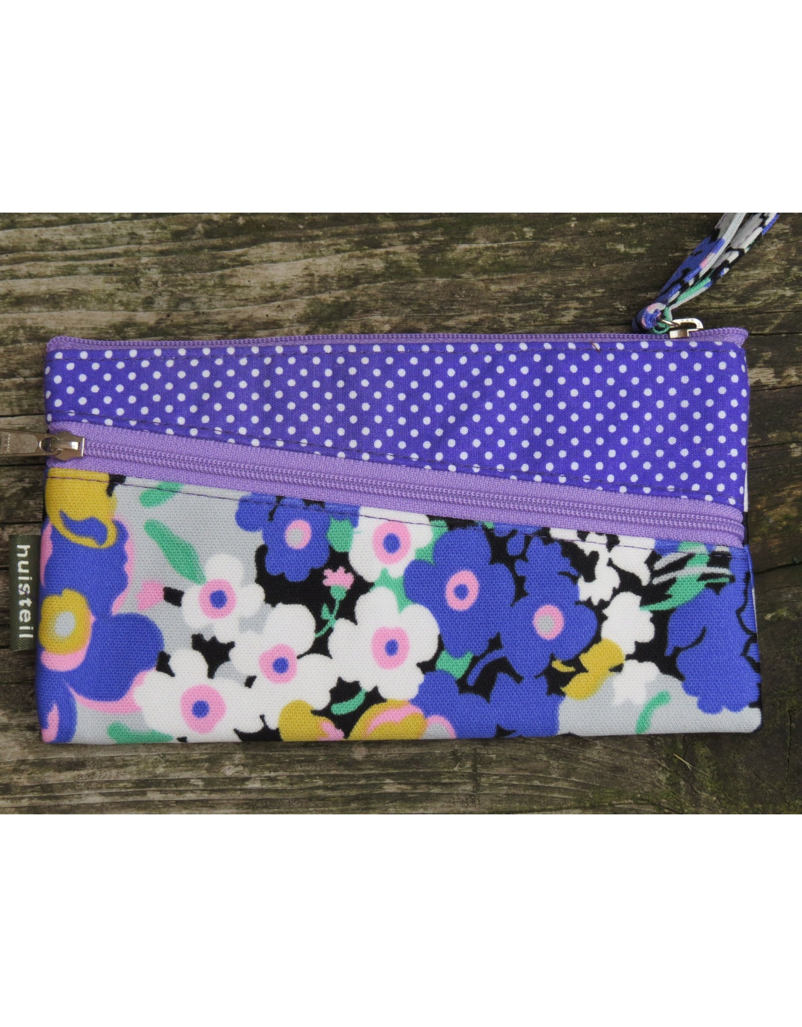Huisteil Vintage portemonnee - mobiel - paars