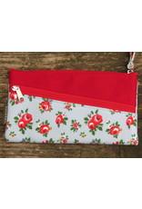 Huisteil Vintage portemonnee - mobiel - roosjes