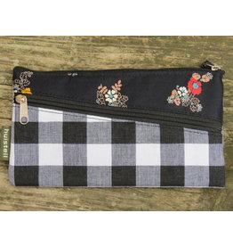 Huisteil Vintage portemonnee - mobiel - zwarte ruit