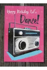 Ansicht kaart - happy birthday let's dance