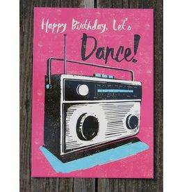 Card - happy birthday let's dance