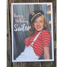 Ansicht kaart Marily Monroe - Happy birthday sailor