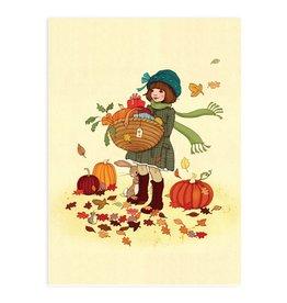 Belle & Boo card - autumn leaves