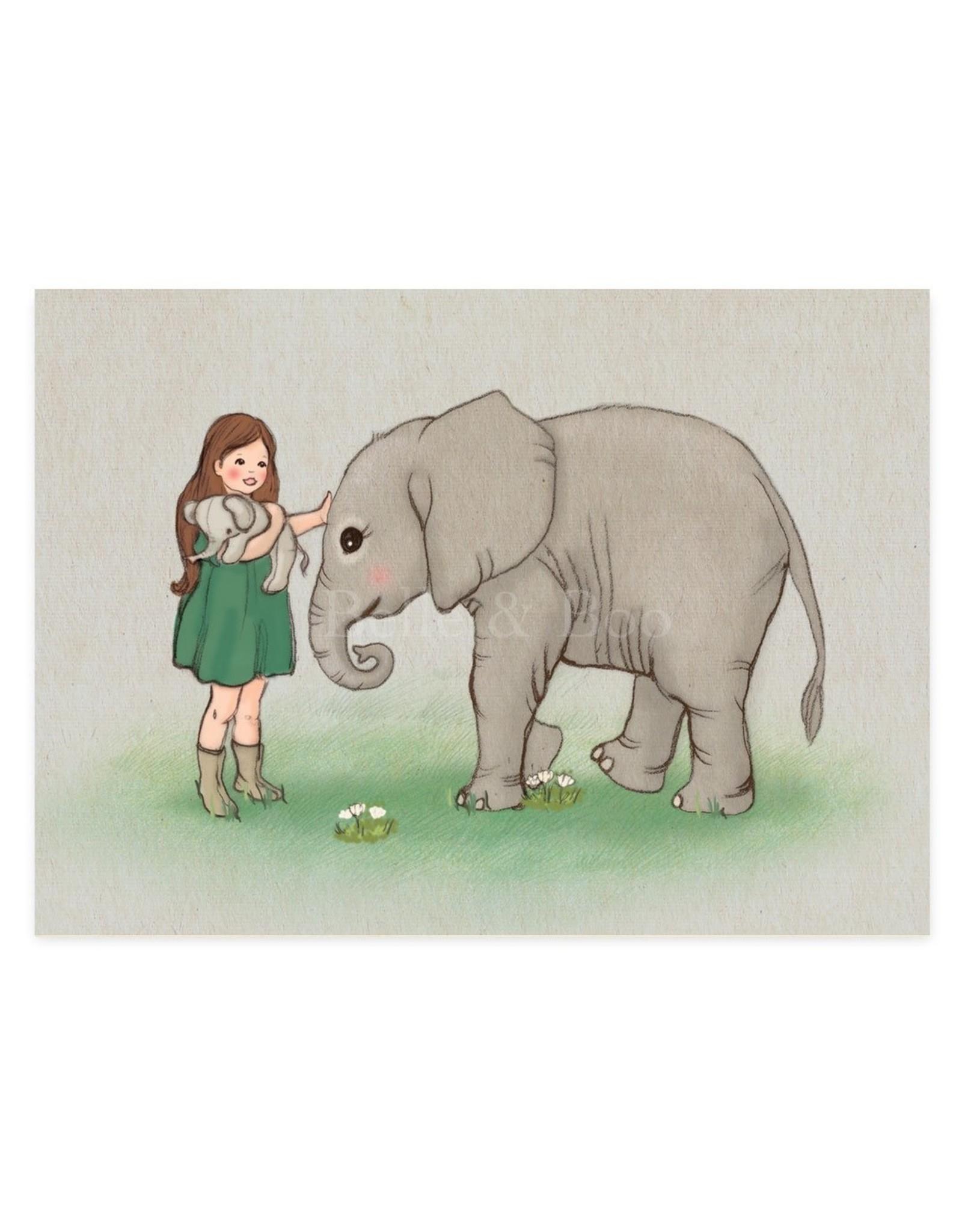 Belle & Boo kaart - baby olifantje