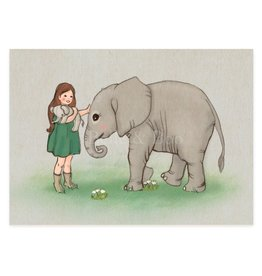 Belle & Boo card - baby elephant
