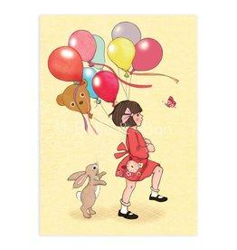 Belle & Boo card - birthday balloons