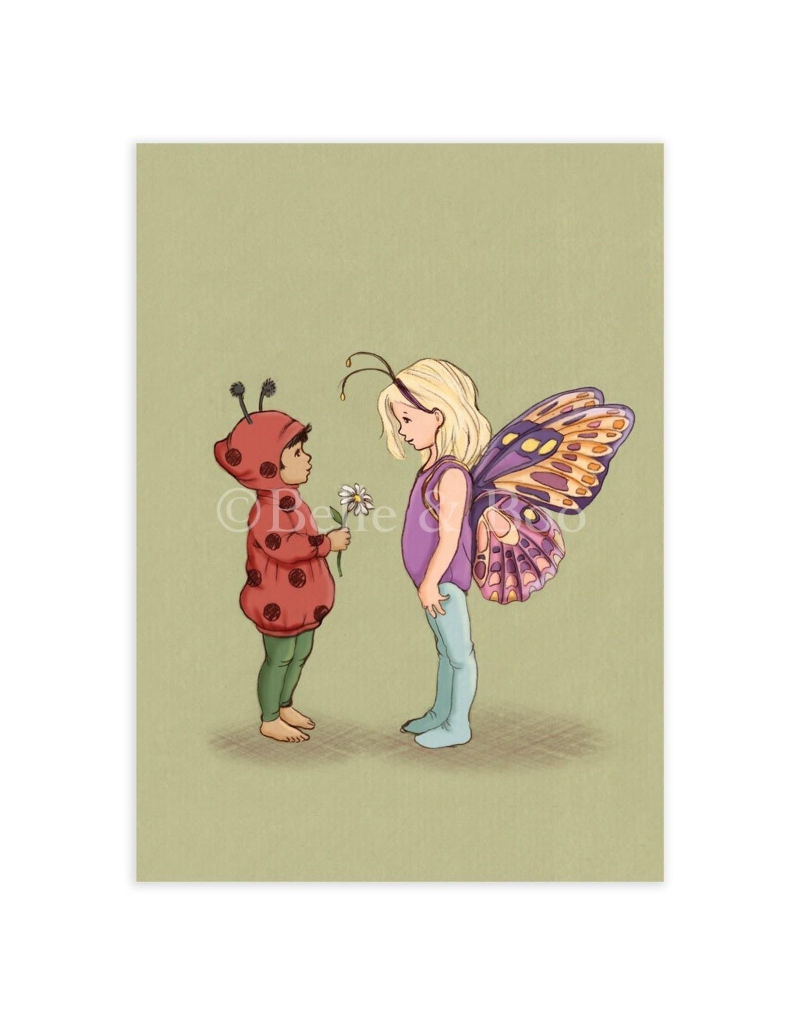 Belle & Boo card - bug friends