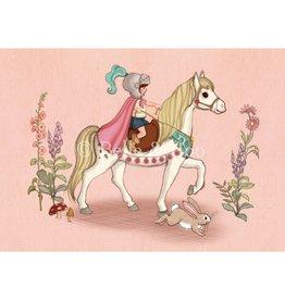 Belle & Boo kaart - moedige ridder